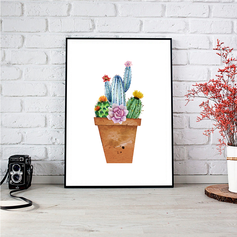 Aliexpress Buy Nordic Watercolor Tropical Plant Leaf