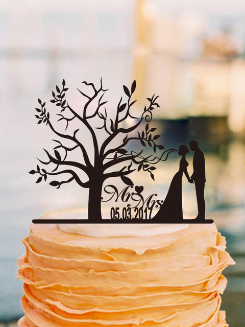 Aliexpress Buy Personalized Wedding Cake Topper Anniversary