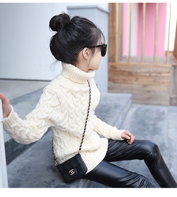 2017 new high neck long knitting girls sweater spring autumn winter turtleneck knitted children sweaters kids girls thick red black beige pink tops 7 8 9 10 11 12 13 14 15 years little big teenage girls sweater winter casual children (10)