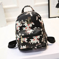 YOUYOU MOUSE Fashion Women Vintage Schoolbags Lovely Flower Printing Leather Backpacks For Girls Travel Backpacks Mochila