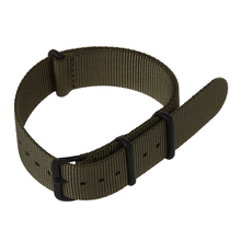 20mm Army Green Nylon Fabric Outdoor Sport Watch Band Strap