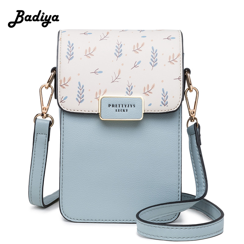 Floral Printed Women Leather Shoulder Bag Casual Crossbody Flap Bags Ladies Single Strap Messenger Travel Wallets Phone Pouch