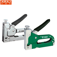 AIRAJ 3-way Heavy Duty Hand Nail Gun Stapler Furniture Staples With 600pcs Nails Include By Free Woodworking Tacker Staples
