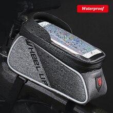 Колеса до MTB дорожный Велосипедный Спорт велосипед Сумки непромокаемые Сенсорный экран Велоспорт Топ передняя Труба Рамки Сумки 6.0 чехол для телефона велосипед интимные аксессуары
