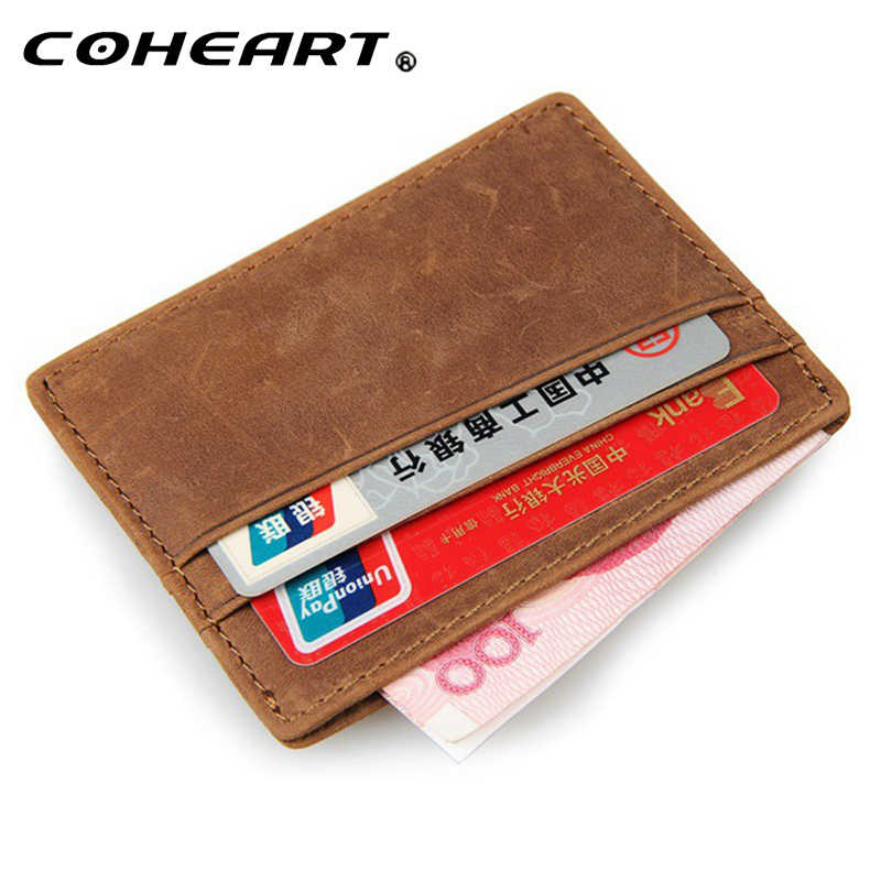 wallet men one piece genuine leather wallet male purse ultra thin men wallets purse mini money bag leather purse