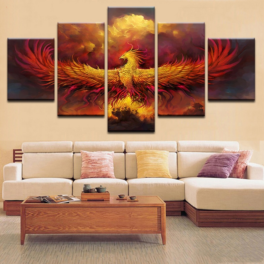 5pcs diy Diamond Painting Cross Stitch Fire Phoenix full square Diamond Mosaic beaded Embroidery Rhinestones Home Decor C6935pcs diy Diamond Painting Cross Stitch Fire Phoenix full square Diamond Mosaic beaded Embroidery Rhinestones Home Decor C693