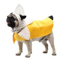 Engraçado animal de estimação traje banana cosplay terno dia das bruxas roupas de natal para gatos filhote de cachorro cães bonito gato roupas cachorro camiseta|Roupas p/ gato|   -