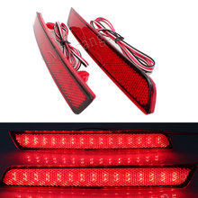 цена на 2PCS Car LED Rear Tail Lights for Chevrolet Malibu 2012 2013 2014 2015 Bumper Reflector Lamp Brake Stop Light Car Style