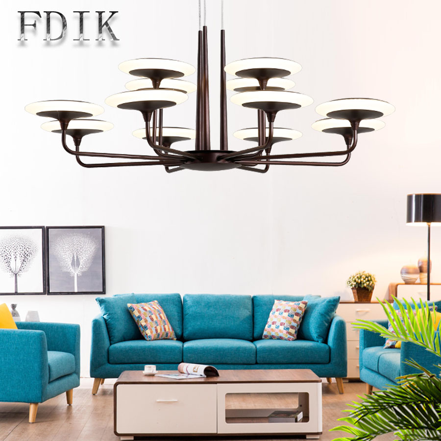 Post modern Simplicity Nordic Living room Chandelier Double color Dimmable AC 220V LED lamp Hanging Lights For Villa Dining room