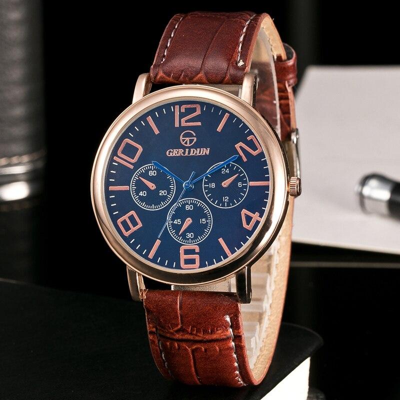 GERIDUN Reloj de los hombres de la marca de lujo famoso reloj de - Relojes para hombres - foto 3