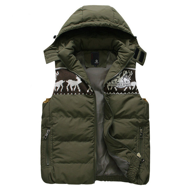 New Mens Jacket Sleeveless Veste Homme Winter Fashion Casual Coats Male Hooded Men's Vest Men Waistcoat S-3XL (Asain Size)