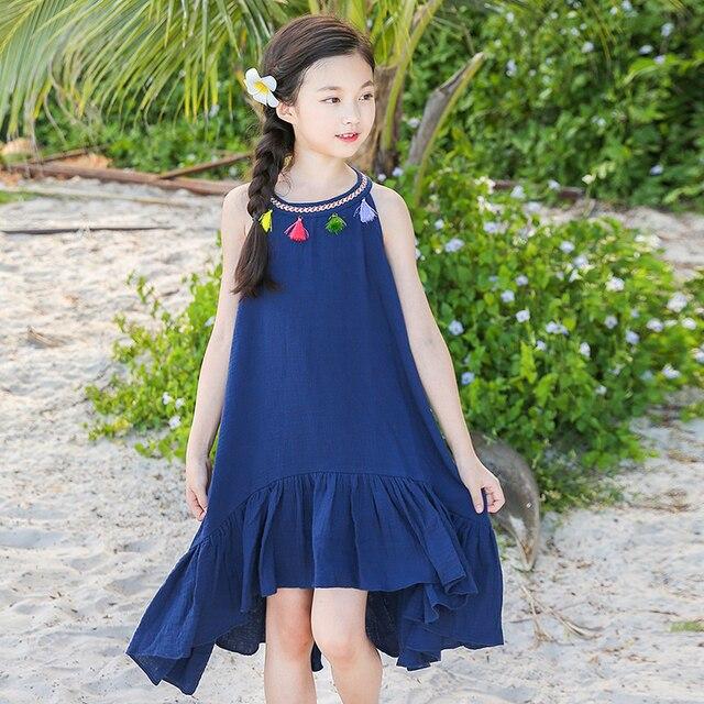fa48cb768 children dresses girls new 2018 summer with tassels princess big ...