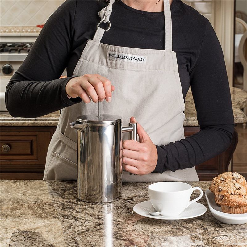 Stainless Steel Polished French Press 4