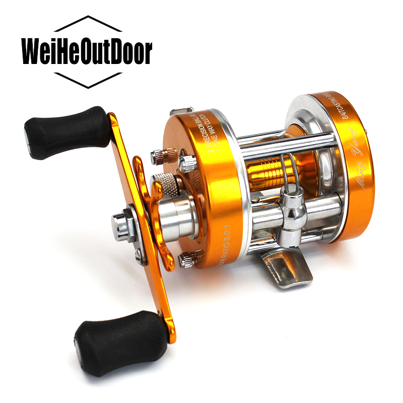 All-metal CL-30 Bait Casting Reel Right Hand Cast Drum Carp Fishing Reel 2+1BB 5.0:1 Baitcasting Reel Smooth Main Gear Pesca