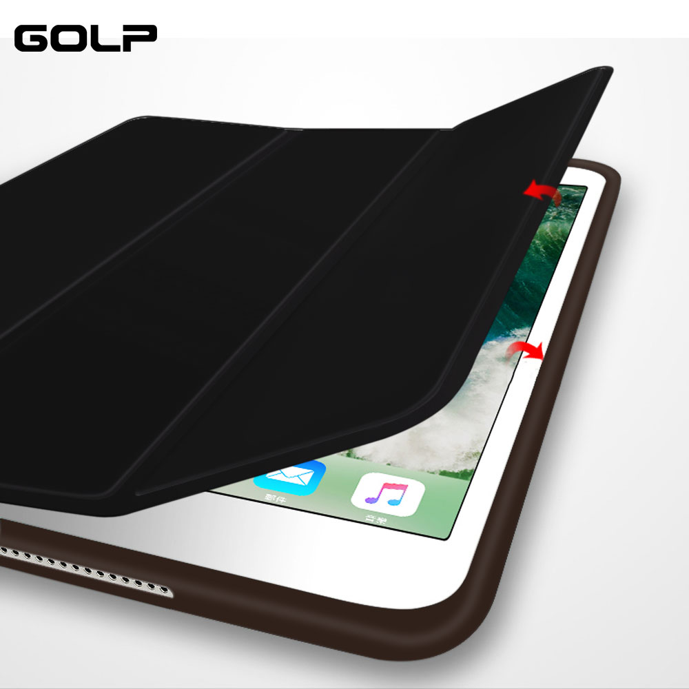 For iPad Pro 12.9 Case,GOLP flip case 2016 Auto Sleep Wake Smart Cover For iPad pro 12.9 inch magnetic stand for ipad 12.9 case retro vintage premium pu leather smart cover for ipad pro 9 7 inch 2016 slim book case flip tablet case auto sleep wake case