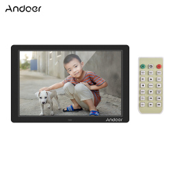 Andoer Digital Photo Frame LED Screen Eletronic Picture Album High Resolution Clock Calendar Video Player with Remote Control