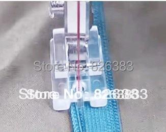 1 ks kvalitní Plastová zipová patka NO.CY-601 pro většinu domácího šicího stroje Singer Brother
