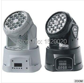 18*3w mini RGB Led Moving Head Wash dj light 12 CHs for stage DJ Party Night Club Bar KTV Disco Stage Spot Light