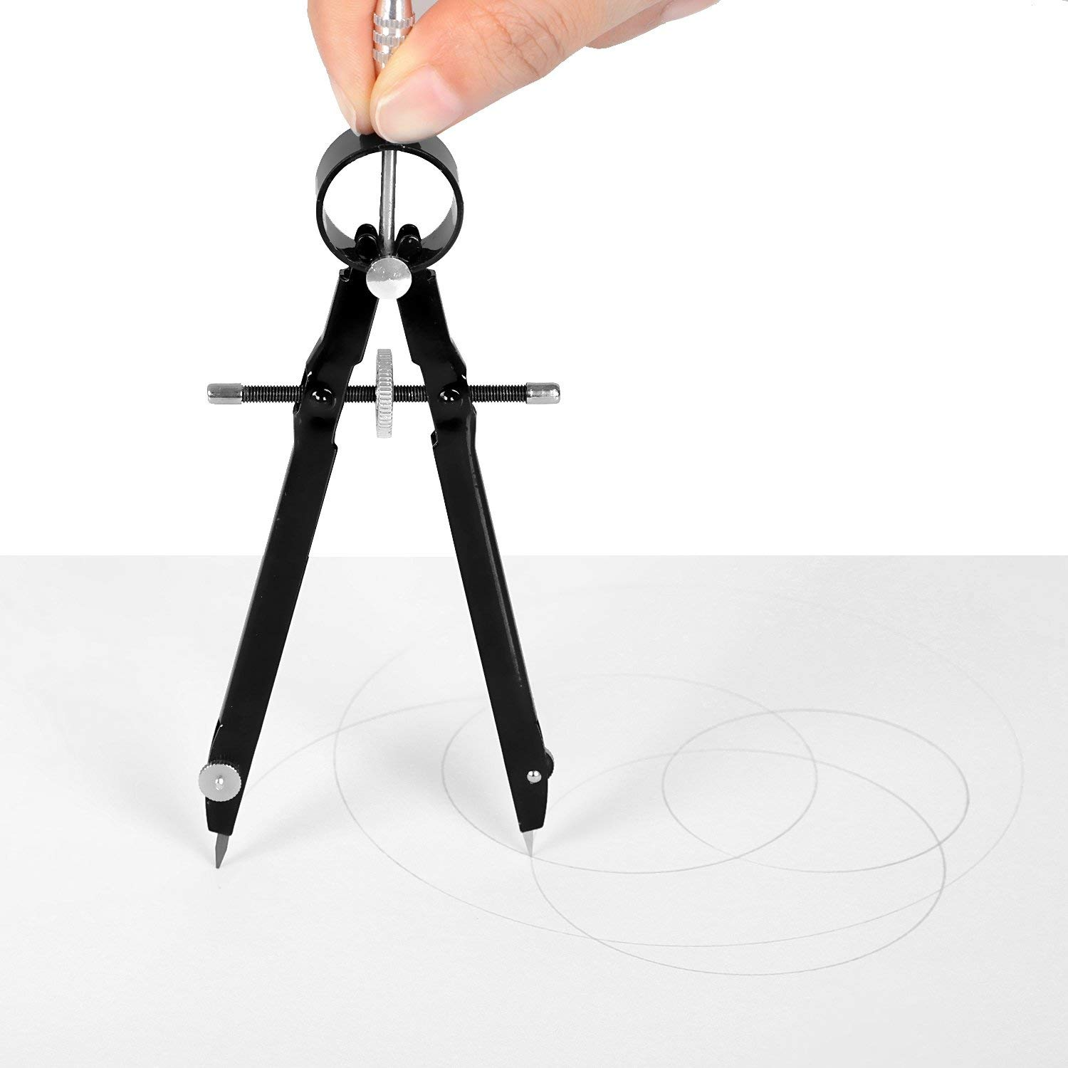 Professional Compass, Compass Geometry Set with Lock, Math and Precision Compass, Metal and Durable for Solid and Plane Precis