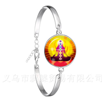 Chakra Bracelet Zen Charms Fashion Om Yoga Meditation Jewelry Chain Bangel For Women Accessories Buddhism Jewelry Gift image