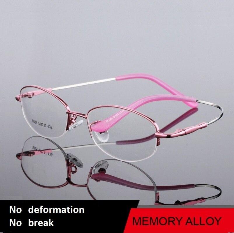 9fc5762180a69 51-17-138 o quadro de novo high-end titanium liga metade óculos de memória  óculos de miopia 8035 ms. óculos de armação frete grátis
