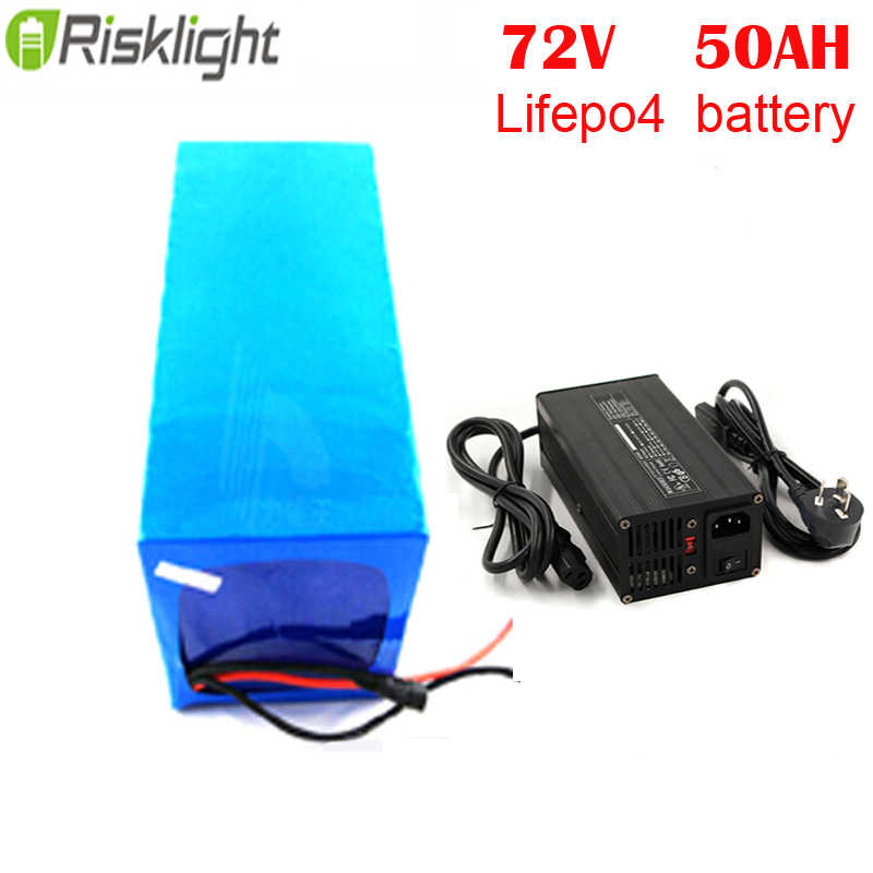 3000W electric motorcycle Lifepo4 battery pack 72V 50Ah for electric bike with 5A charger