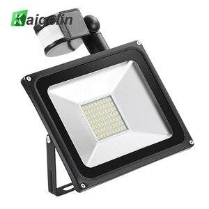 Kaigelin Sensor LED Flood Light 50W 220V 70 LEDs SMD 5730 Infrared Sensor Flood Lamp Outdoor Lighting LED Induction Floodlights
