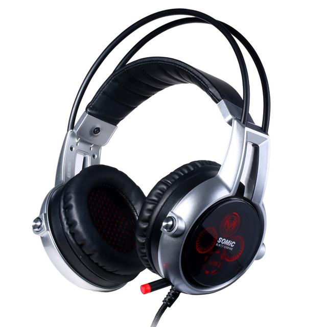 Somic E95X Headphone Gaming USB Wired Headset for Computer with Microphone Bass Vibration Noise Cancelling Headphones For PC authentic somic e95x 5 2 multi channel vibration headset super bass noise canceling headphone with led mic for ps4 fps game