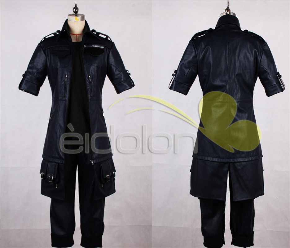 Final Fantasy 15 The King Noctis Cosplay Costume Outfit PU Leather Jacket+Pants+Glove Halloween Adult Costumes for Women Custom