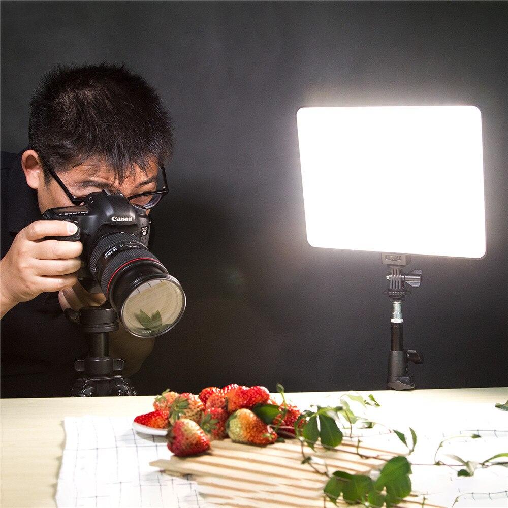 VILTROX VL 200T 12.4 ''caméra Photo à distance sans fil vidéo Studio lumière LED bi couleur réglable + adaptateur d'alimentation cc pour Canon Nikon - 2