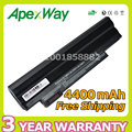 Apexway 11.1 v 4400 mah preto bateria do portátil para acer aspire one 522 722 D255 D260 D270 E100 AOD255 AOD260 AL10A31 AL10B31 AL10G31