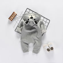 Baby Bodysuits Clothes 2017 New Fashion Cute Animal Bear Baby One-Pieces Body Wool Hooded Newborn Baby Bodysuits Clothing Bo047