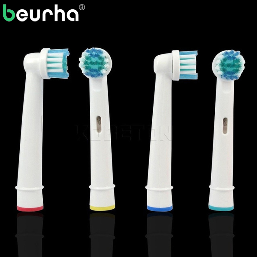 Teeth Clean 4PCS Electric Toothbrush Heads Replacement Vitality Precision For EB 17 SB-17A Tooth Massage Brush 4pcs sb 17a replacement toothbrush heads for oral b precision clean brush removes 400