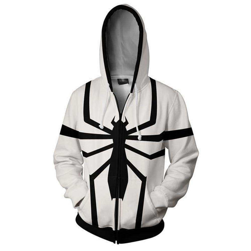 3D Print Winter Soldier spider-man Winter Soldier Hooded Hot Long Sleeve Zipper Men superman Masked Hoodie Cosplay jacket