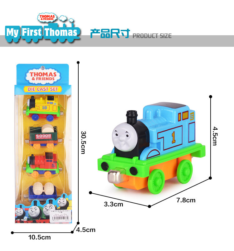 New 4PCS Thomas Alloy Tains Toy Diecast Metal Thomas And Friends Train Toy Magnetic Models Toys For Kids Children Gifts ...