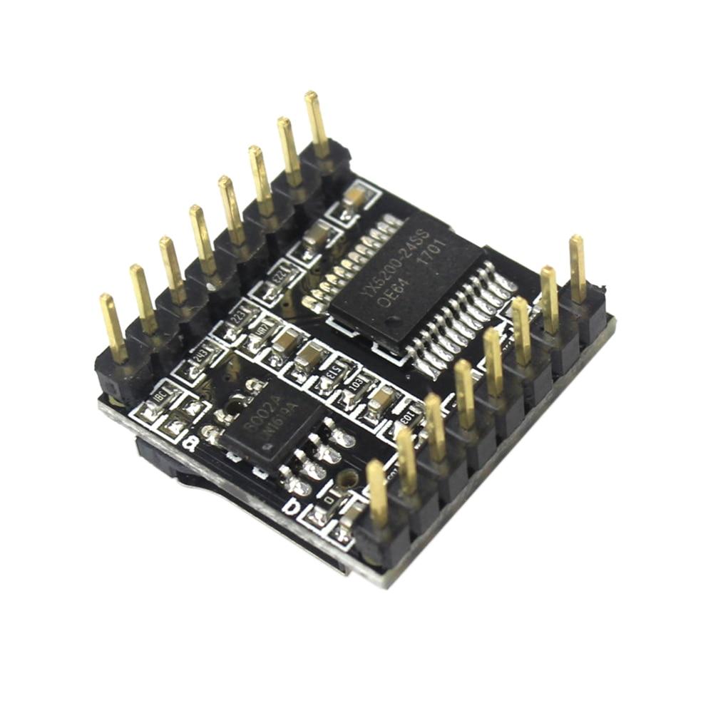 DFPlayer мини mp3-плеер модуль MP3 Голосовая декодированная Плата Поддержка TF карты u-диск IO/последовательный порт/AD для arduino Diy Kit