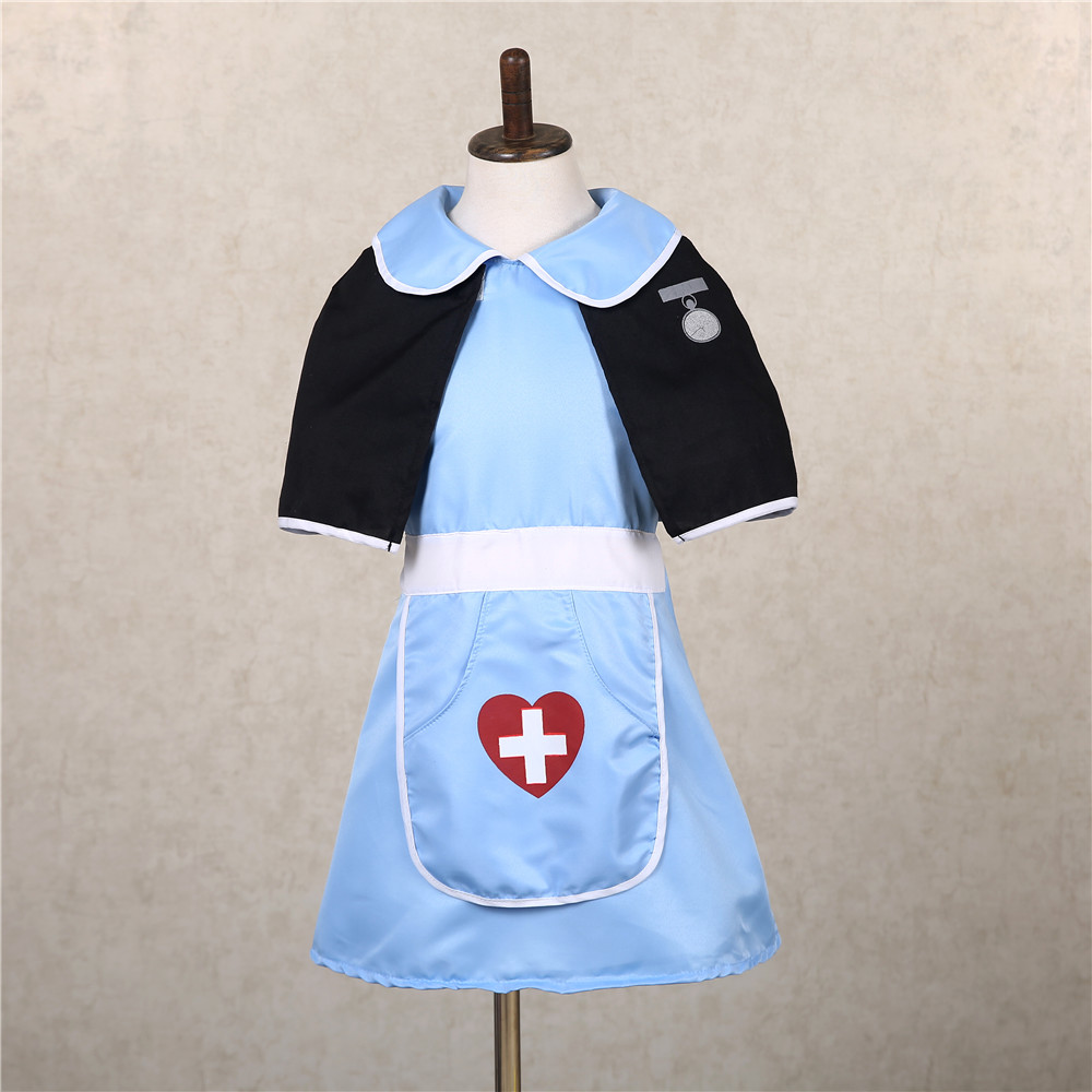 Cute Doctor Nurse Cosplay Costume Girls Party Dress Clothes Halloween Costume for Girls Kids Nurse Uniform Children Clothing Set