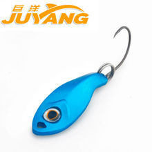 JUYANG Brand Leaf 0.5g Metal Spinner Spoon Fishing Lure Hard Baits Sequins with Treble Hook Tackle