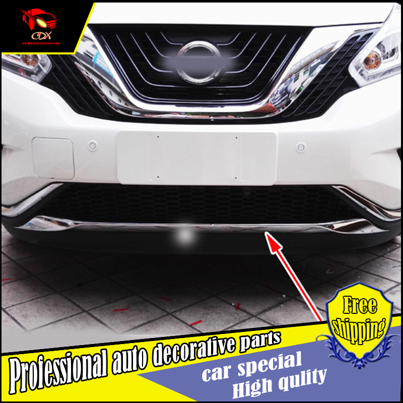 Car Styling ABS Trim under front bumper Cover trim For Nissan Murano 2015 2016 under grille front bumper cover trim Decoration цена 2017