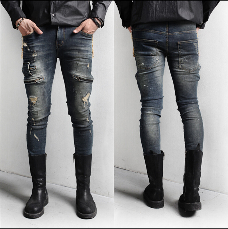 Slim fit denim jeans men – Global fashion jeans models