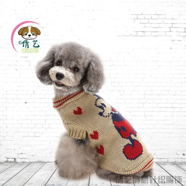 Online Shop Winter Mouse Pattern Two Leg Dog Sweater Knitting Dog