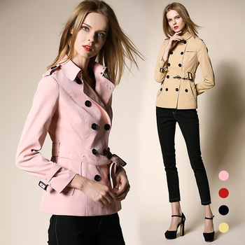 Trench Coat For Women Basic Fashion British Style Womens Autumn Winter Coat Double-Breasted Duster Plus Size 2017 European Coat