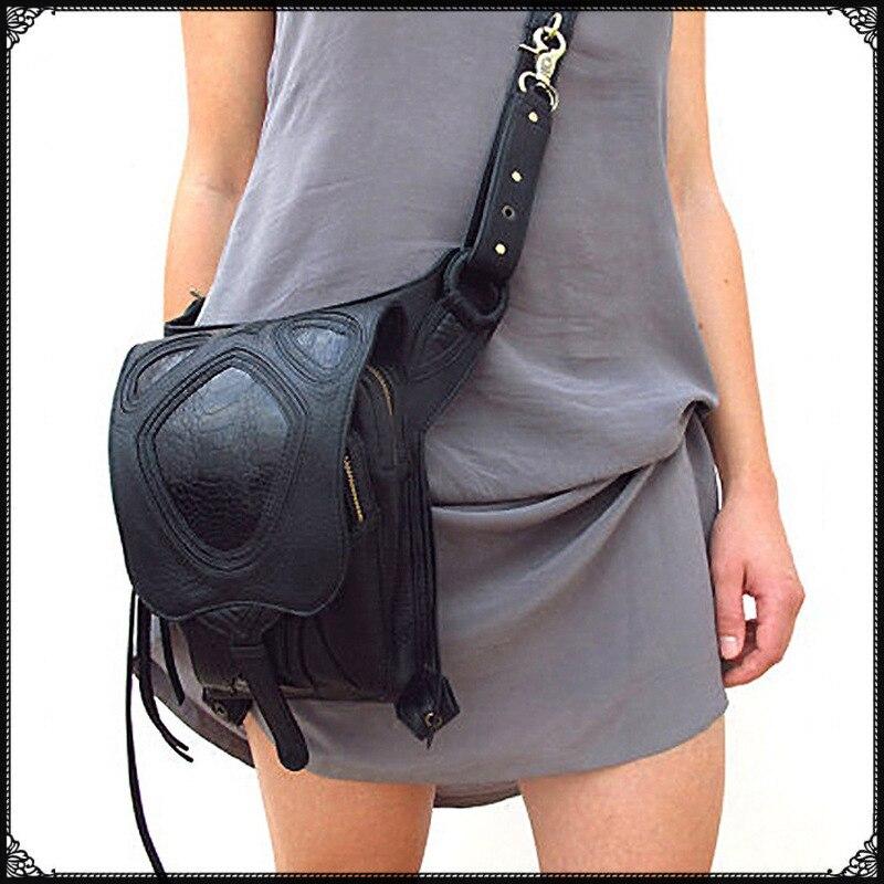 Carteras mujer Hommes Femmes Taille Pack voyage Épaule Sac Téléphone Cas Titulaire jambe femmes messenger sacs De Mode Gothique Steampunk sac