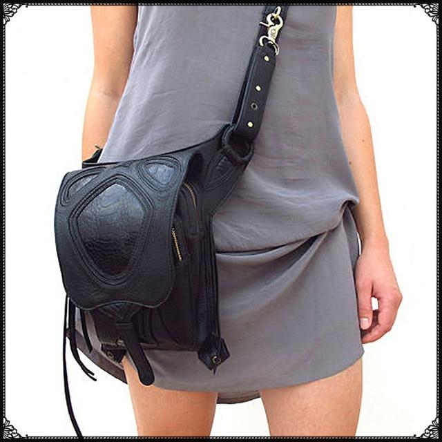 carteras mujer Men Women Waist Pack travel Shoulder Bag Phone Case Holder leg women messenger bags Fashion Gothic Steampunk bag