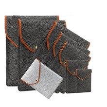 New 11 inch 12 inch 13 inch 15 inch Wool Felt Inner Notebook Laptop Sleeve Button