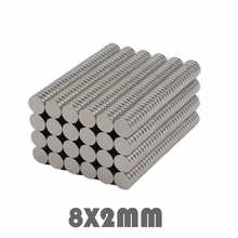 купить 50/100/300pcs 8x2 mm Neodymium Magnet Strong Round Magnets N35 Disc 8*2 mm Search Magnet Rare Earth Magnets For Crafts 8mmx2mm дешево