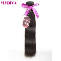 Mydiva بيرو مستقيم الشعر قطعة واحدة 100% الإنسان الشعر نسج حزم اللون الطبيعي غير ريمي يمكن شراء 3 قطع