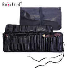 Rosalind Professional Makeup Tools 32 Pcs Makeup Brushes Wooden Color with Leather Bag Cosmetics Make Up Kits