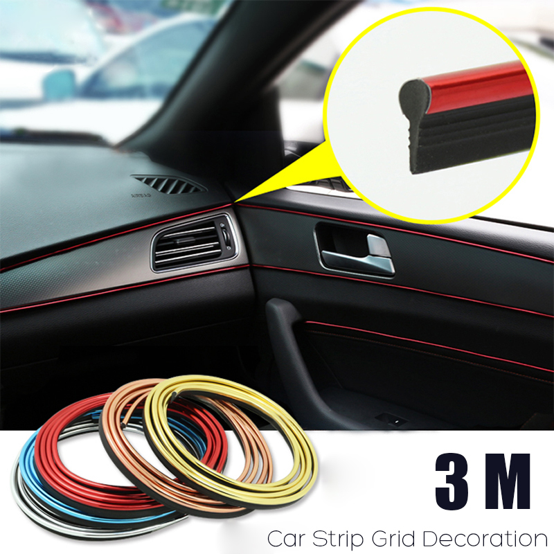 144inch Molding Trim Strip Tape 30mm Silver For Car Auto Door Body Side Decorate