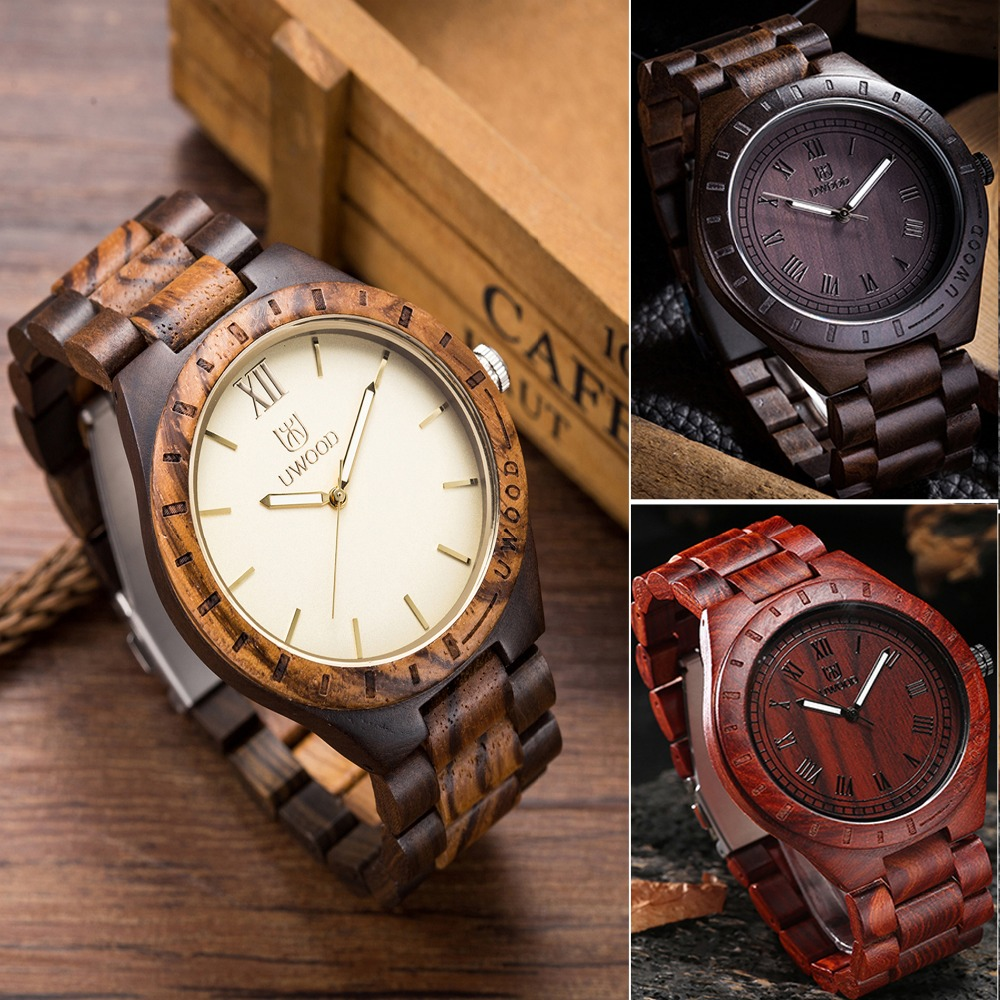 Band Luxury 2016 Men's Bamboo Wooden Wristwatches Dress Watch Men Wooden Quartz Watch Bangle Natural Wood Watches Gifts Relogio brand light wood watch for men luxury natural bamboo wooden mens watches gifts japan quartz movt watch male relogio masculino